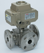3Way Electric Ball Valve With ISO5211 Mounting Pad
